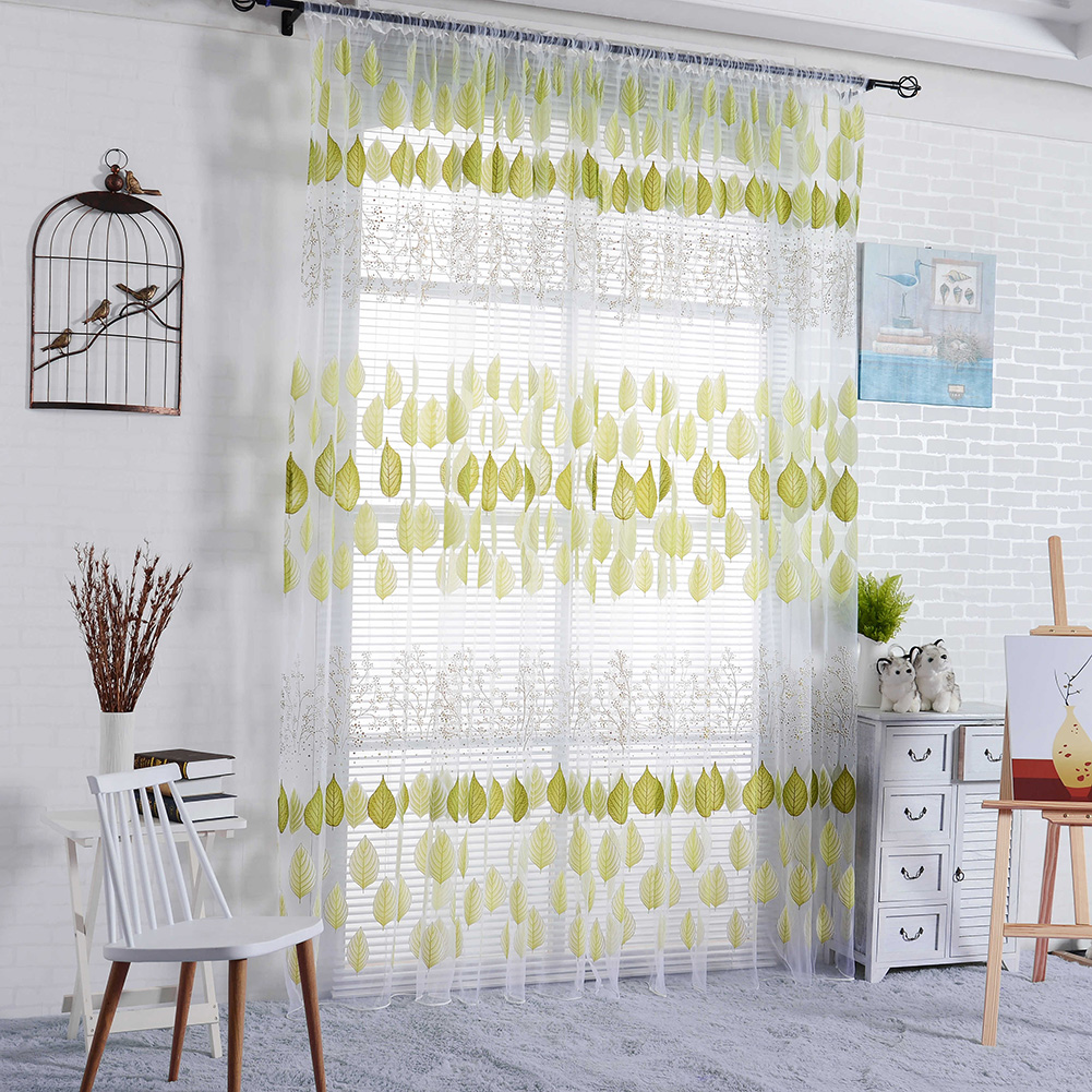 1x2m Tulle Window Screening Sheer Scarf Valance Gauze Curtain For Cafe  Kitchen Living Room Translucidus Voile