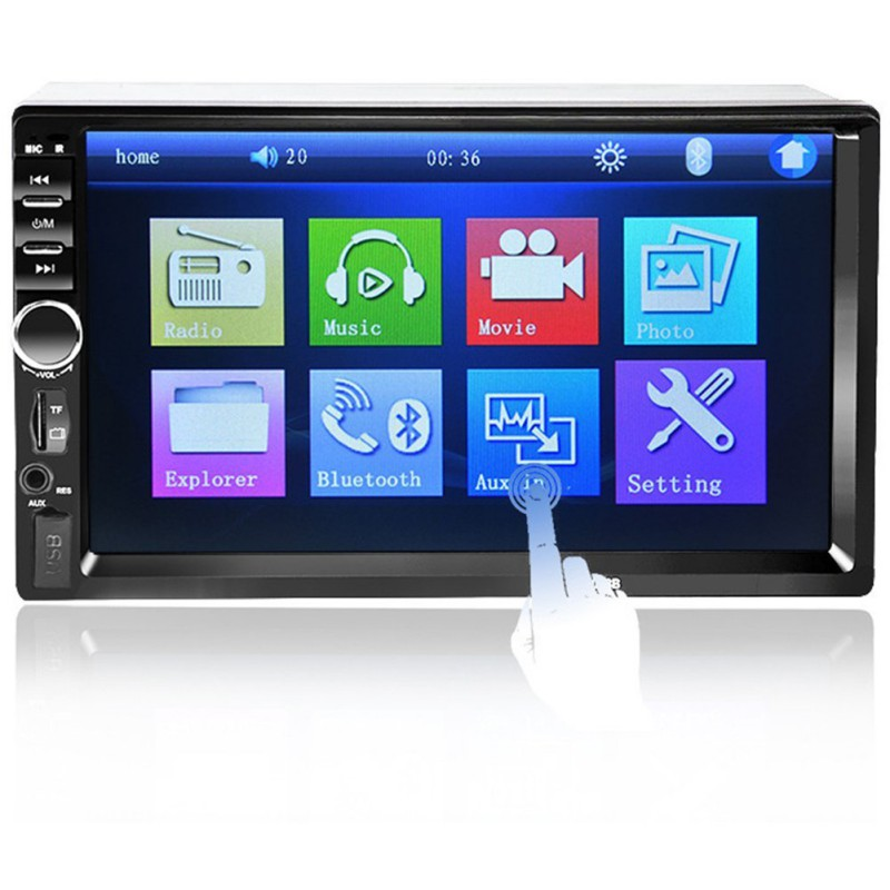 2 DIN Touch Screen Auto Radio Video 7 Inch 7018B Car MP5 Player Car Audio Autoradio Stereo Support Bluetooth TF USB FM camera 7 inch hd touch screen 2 din bluetooth auto car audio stereo fm mp5 player support aux usb tf phone reverse rearview camera