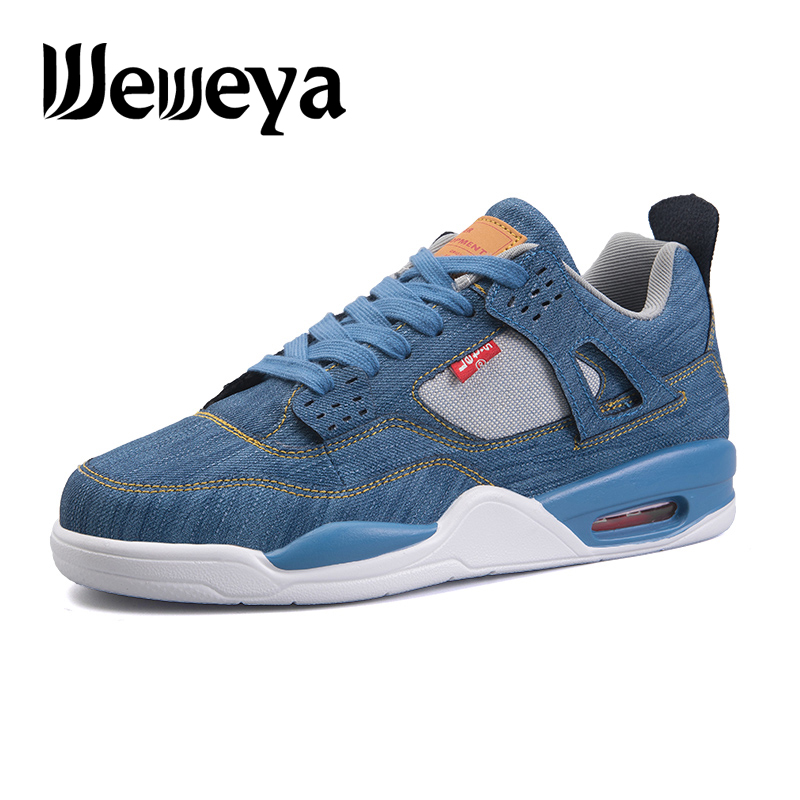 Weweya Boys Cushioning Basketball Shoes Men Air Sole Comfortable Sneakers Outdoor Breathable Trainers Jogging Zapatillas Size 46