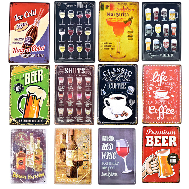 Tin, Beer, Pin, Wall, Shabby, Vintage