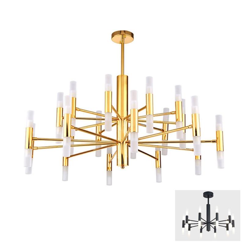 European simple rod tube pipe hanging pendant light lamp LED droplight Modern foyer living sitting room