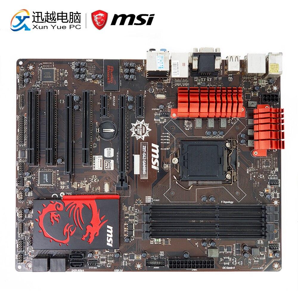 цены MSI Z87-G43 GAMING Desktop Motherboard Z87 Socket LGA 1150 i3 i5 i7 DDR3 32G SATA3 USB3.0 VGA DVI HDMI ATX