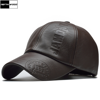 [NORTHWOOD] New High Quality Winter Cap PU Leather Baseball Men Snapback Hat Casquette Gorras Para Hombre Mens Trucker - discount item  35% OFF Hats & Caps