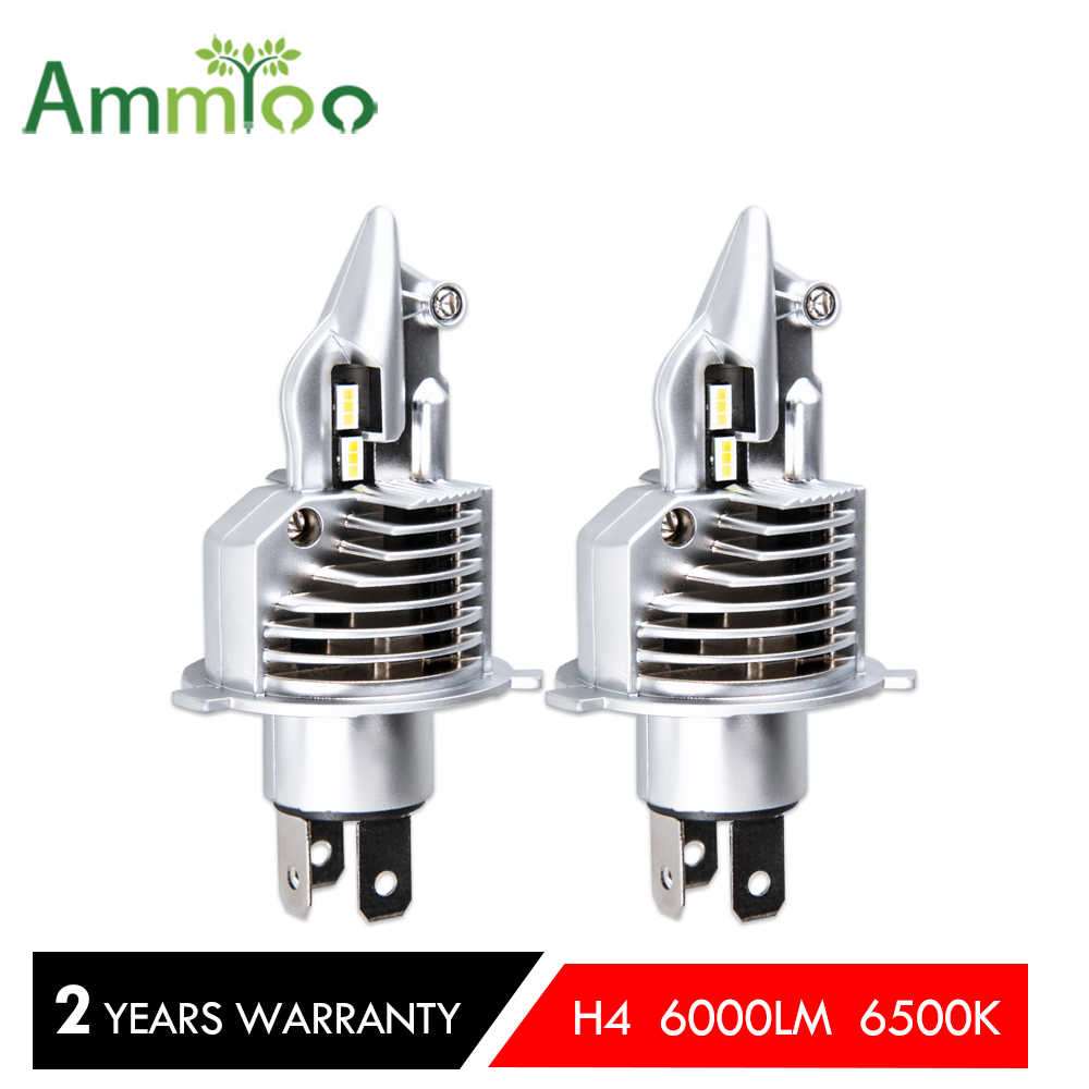 AmmToo HS1 H4 motorcycle led headlight 6500K 6000LM Led car headlight DC 12v-80v New product for all 30w moto bulb Bright light