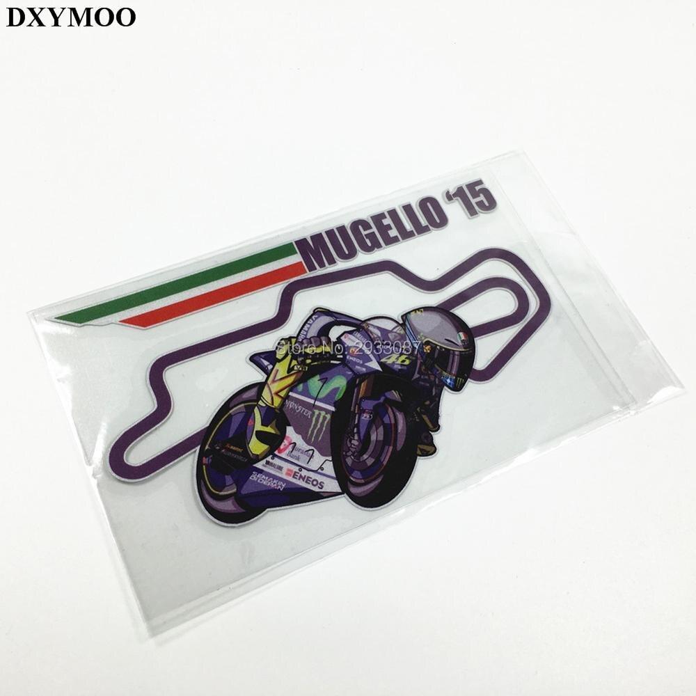 Car visor sticker designs - Mugello 15 Rossi Track Italy Flag Reflective Bumpers Motorcycle Suv Helmet Visor Car Sticker Decal Vinyl