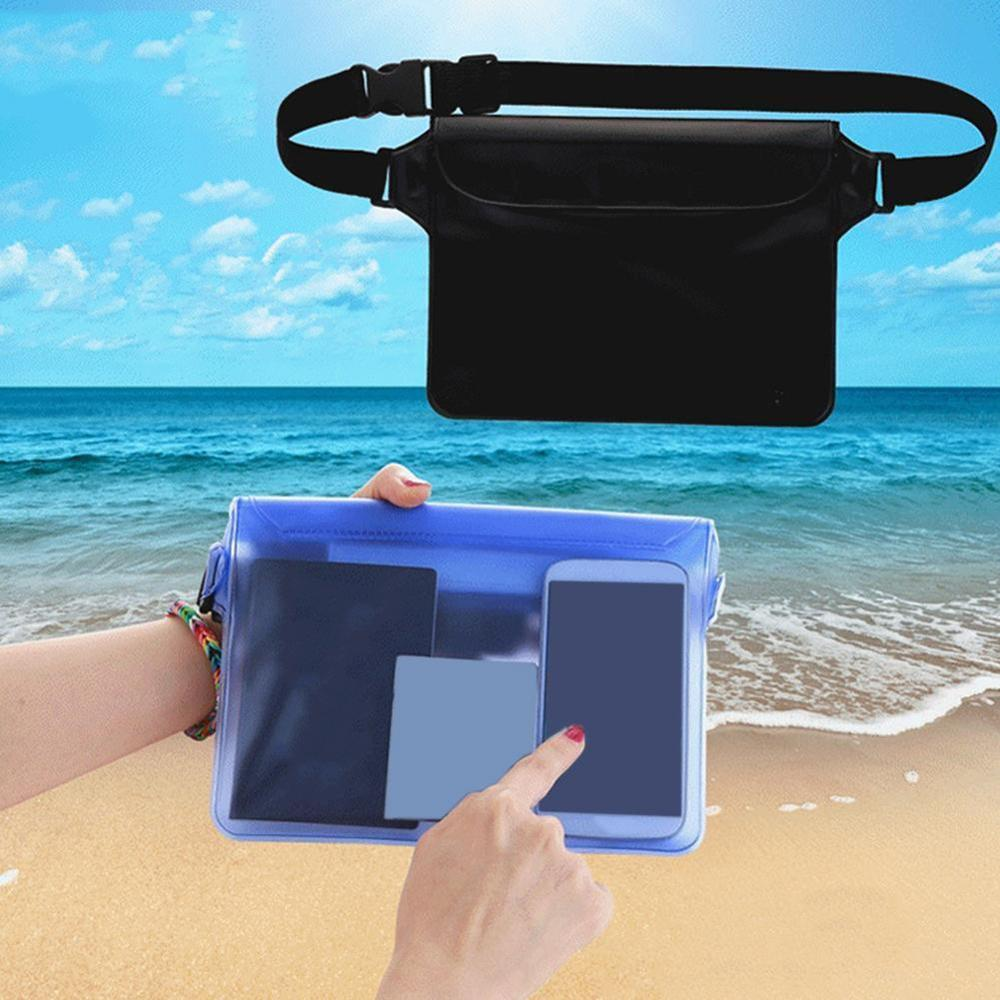 Waterproof Pouch Dry Bag Fanny Pack PVC Waist Bags Strap For Underwater Swimming Phone Pocket Waist Belt
