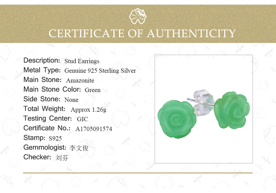 Lotus Fun Real 925 Sterling Silver Natural Stone Creative Handmade Fine Jewelry Vintage Flower Stud Earrings for Women Brincos