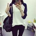 new 2016 color loose thin long sleeved T-shirt girl female turtleneck jacket