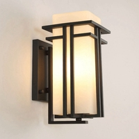 LukLoy Outdoor Wall light LED Square Creative Modern Simple Outdoor Waterproof Outdoor Balcony Garden Light Corridor Wall Lamp