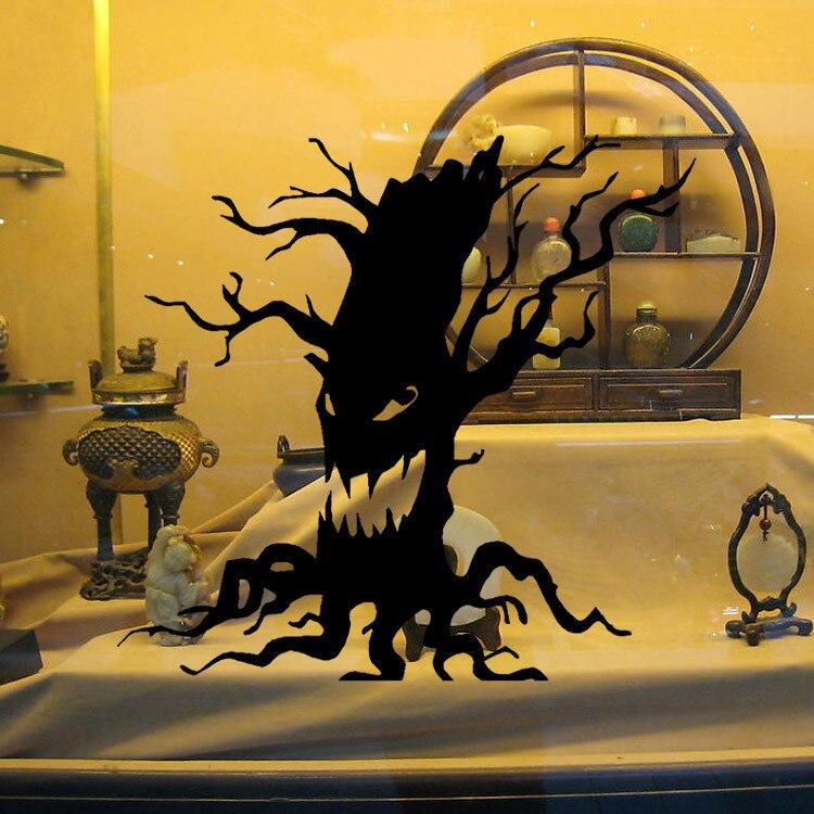 Halloween Carnival Black Ghost Tree Wall Sticker All Saints\' Day ...