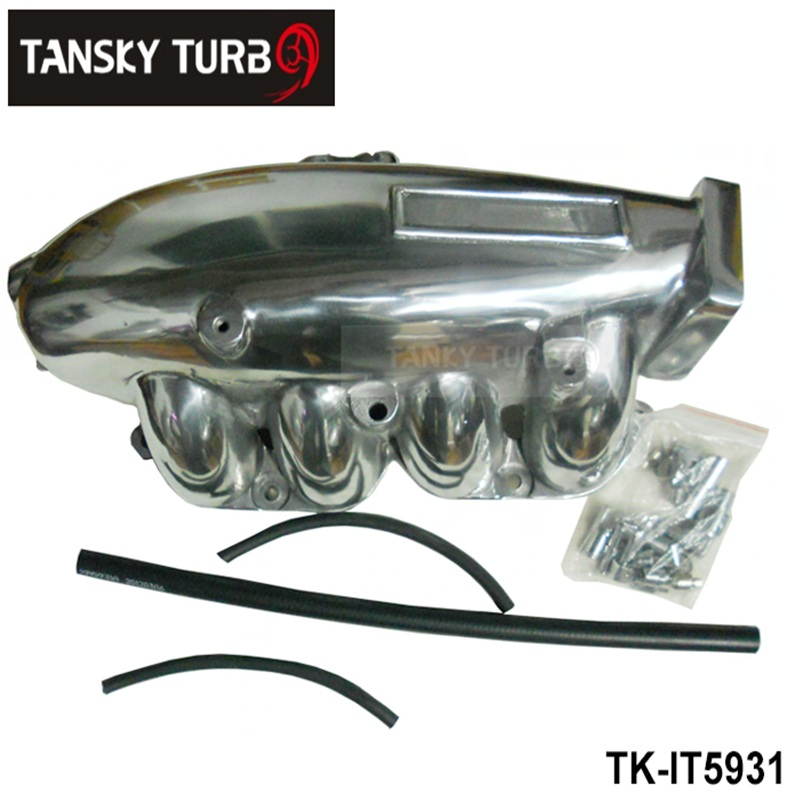 ФОТО TANSKY - For Nissan SR20 S14/15 Cast Aluminum Turbo Intake Manifold Polished JDM high Performance TK-IT5931
