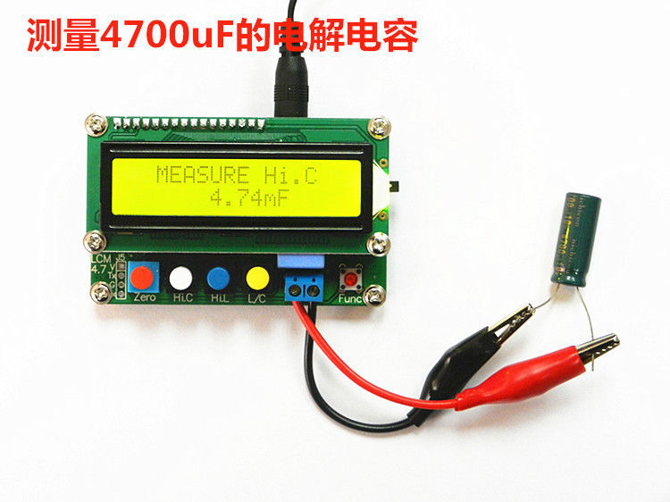 Digital LCD Capacitance meter inductance table TESTER LC Meter Frequency 1pF-100mF 1uH-100H LC100-A + Test clip  цены