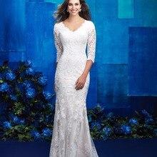 cecelle Vintage Lace Boho Wedding Dresses 2019 3/4 Sleeves