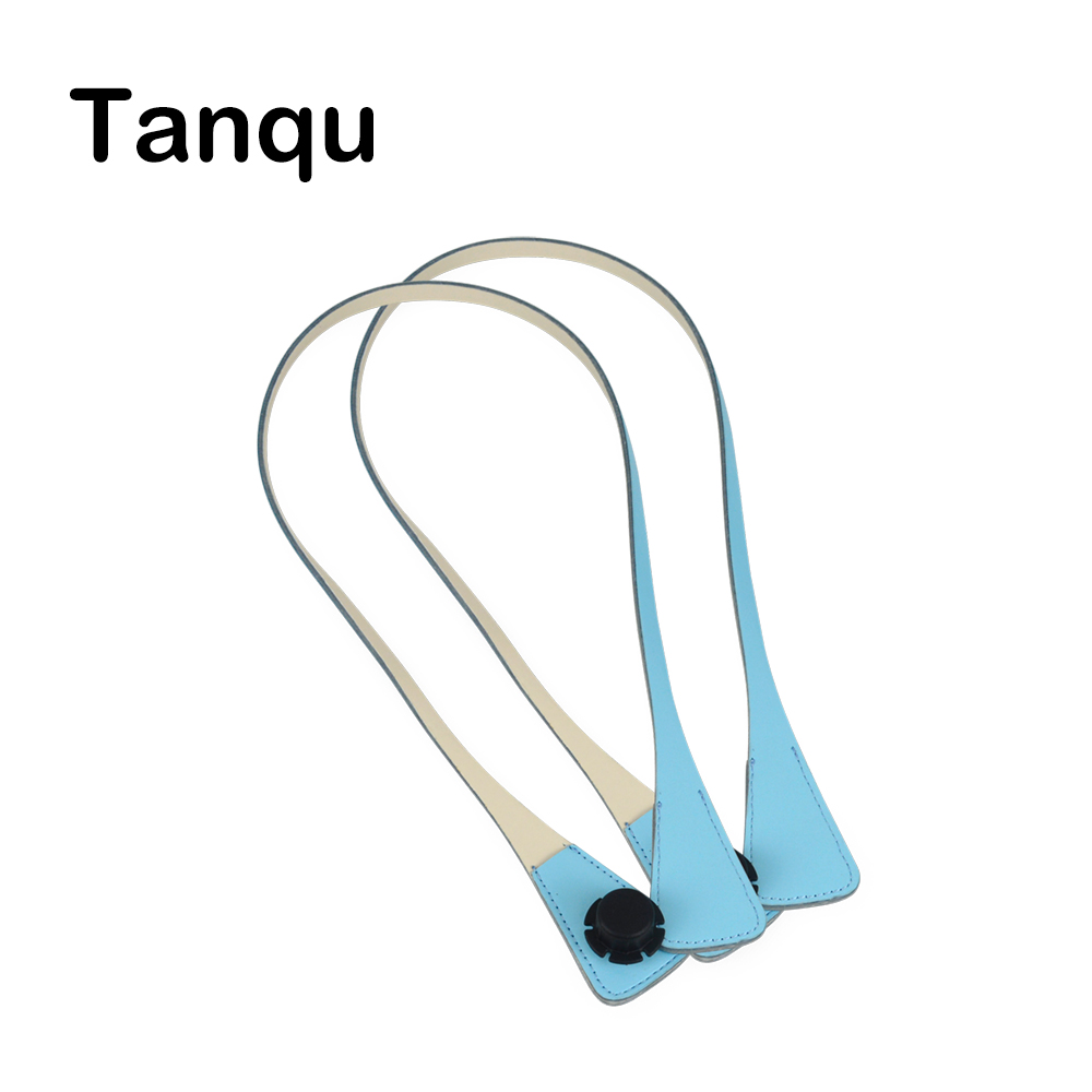 TANQU New Long Extra Slim Interchangeable Angular Handles Faux Leather Handles for OBag  for EVA O Bag Body tanqu new lacquer short long extra slim interchangeable teardrop handles faux leather handles for obag for eva o bag body