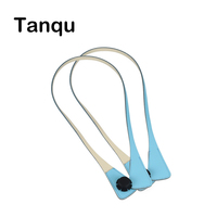 TANQU New Long Extra Slim Interchangeable Angular Handles Faux Leather Handles For OBag For EVA O