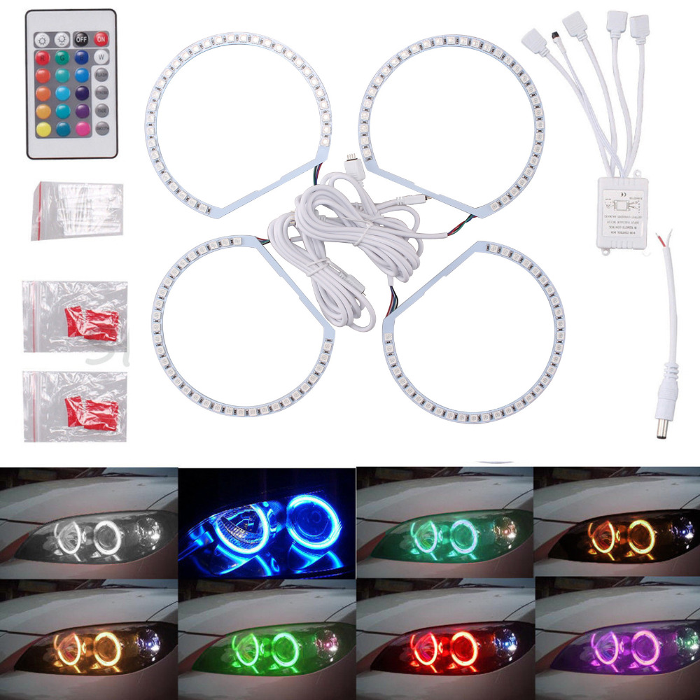 4X 131MM 5050SMD Multi-Color RGB LED Angel Eyes 1992-2006 For BMW E36 E46 E39 E38 3 5 7 Series Halo Ring Kit Headlights bluerise modern outdoor umbrella garden patio sunshade 6 bones folding advertising beach garden tent umbrella villa garden
