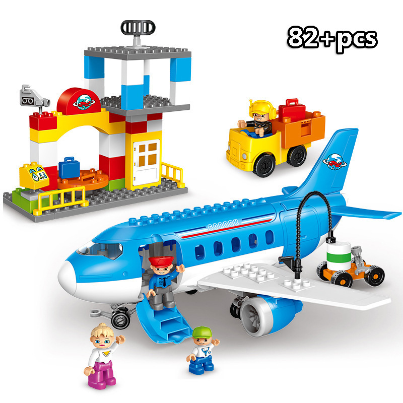 13-109pcs Large particles City Transport Team Car Model Series Building Block Bricks Compatible Duploe Toys for children Kids GIft (13)