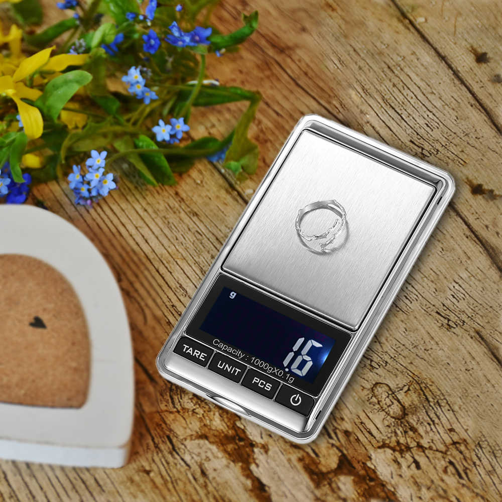 1000*0.1g Mini balanca digital  Scale Pocket jewelry scale Electronic balance Weighing weights Scales