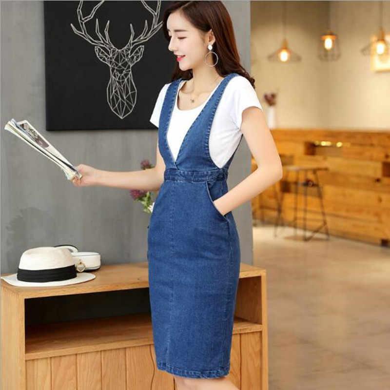 Женские модные тонкие длинные джинсовые платья джинсовые комбинезоны QV539