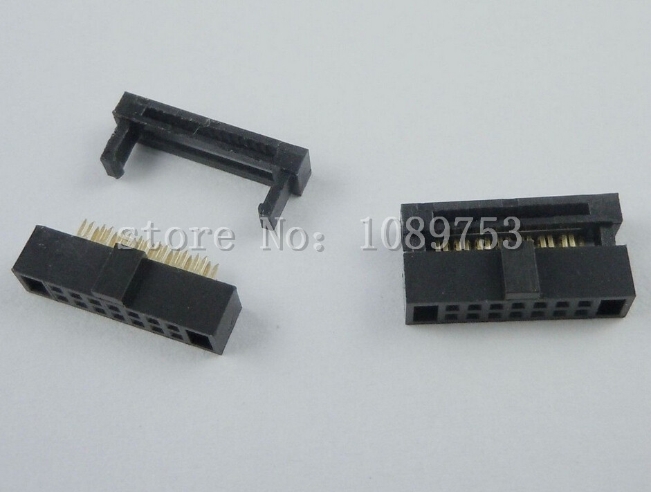 10Pcs 1.27mm Pitch 2x7 Pin 14 Pin IDC FC Female Header Cable Socket Connector 20pcs 2 54mm pitch 2 x 15 pin 30 pin female header idc socket connector black free shipping