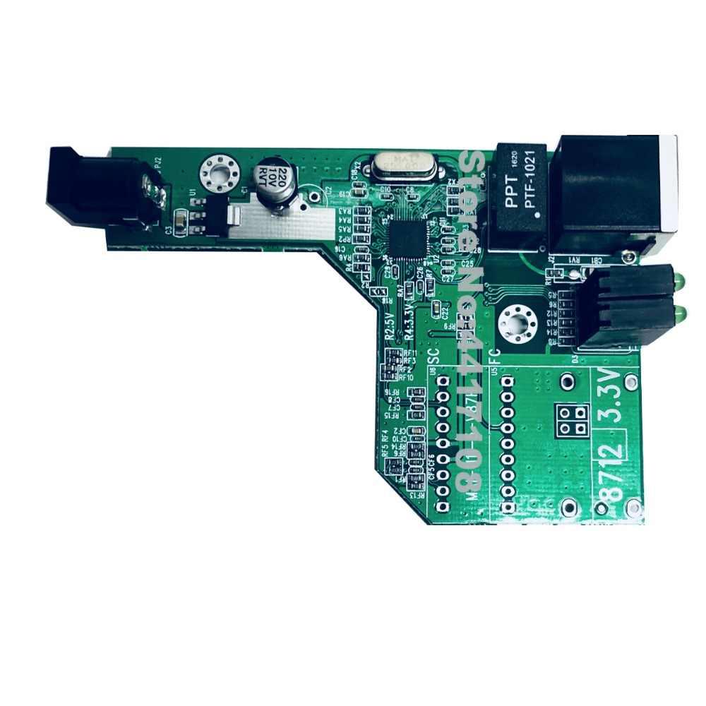 Convertidor de medios de fibra óptica transceptor de fibra 10/100M placa PCBA solamente placa PCBA sin módulo de fibra óptica