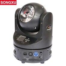 SONGXU LED הזזת ראש קרן 60 w RGBW צבעוני 60 ואט קרן נע ראשי dmx dj תאורת מסיבת אירוע אור /SX MH60C