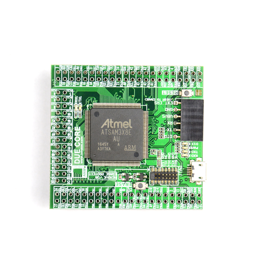 Купить с кэшбэком INHAOS Due Core SAM3X8E 32-bit ARM Cortex-M3 Mini Module For Arduino Compatible IoT MCU 512K Flash 96K RAM 12Bit ADC DAC 84MHz