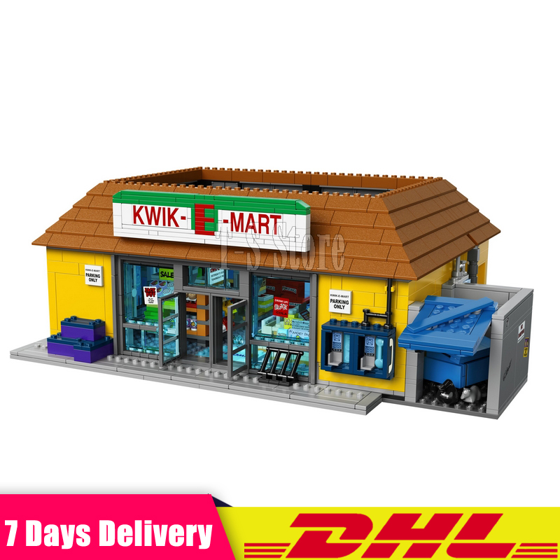 DHL IN STOCK LEPIN 16004 2232Pcs The Simpsons The Kwik-E-Mart Model Building Blocks Set Clone 71016 Toys For Children dhl lepin 18032 2932 pcs the mountain cave my worlds model building kit blocks bricks children toys clone21137 in stock