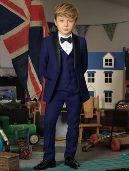 c02ba9d95 La nueva boda trajes para niños traje chal solapa niños trajes de dos  piezas Niño desgaste Formal slim dos botón de chaqueta + Pantalones +  corbata