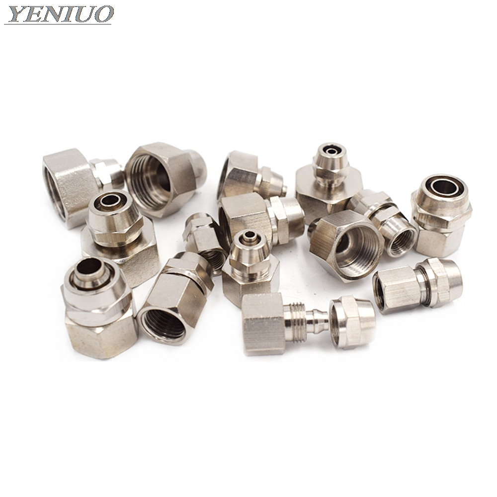 Pneumatic Fast Twist Fittings 4~12mm OD Tube To 1/8