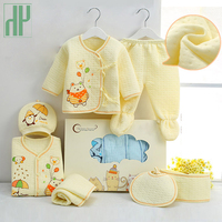 Newborn Clothes 7 Pieces Set Cotton Spring Autumn Baby Girl Clothes Set Animal Warm Tops Pants