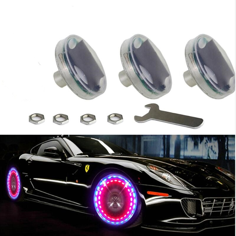 1 Piece Car Wheel Light Air Caps Universal Decor Lamp Auto Valves Tire Valve Caps Car-styling Solar Energy LED Light стоимость