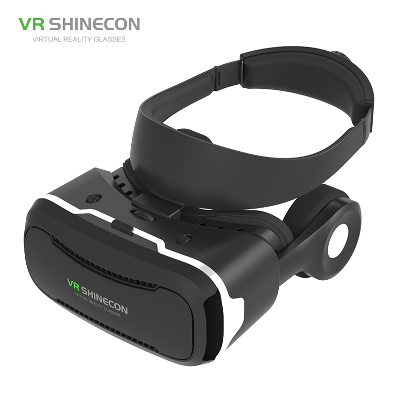 VR Shinecon 2.0 Smart VR Glasses Immersive Virtual Reality 3D Helmet Games Video with HiFi Earphone for iPhone 4.7-6 Smartphone image