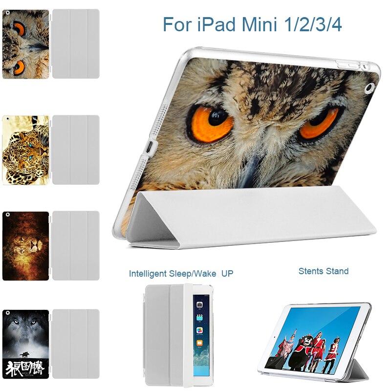 For iPad mini 4 Case Flip PU Leather Case For iPad Mini 4 mini4 Smart Cover Shell Sleep Wake Stand Cover for iPad Mini 1 2 3