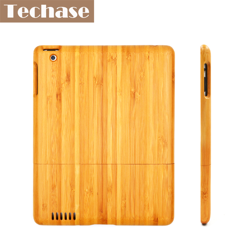 Techase Bamboo Tablet Protective Case For iPad 2 3 4 Shockproof Wooden Back Cover For iPad Mini 1 2 3 Air Air2 Funda For Apple print batman laptop sleeve 7 9 tablet case 7 soft shockproof tablet cover notebook bag for ipad mini 4 case tb 23156