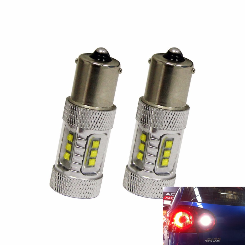 1156 BA15S High Power Projector Cree Chip 80w Super Bright Back Up Brake Tail Turn Signal Lamp for VW MKV Golf R32,reverse light
