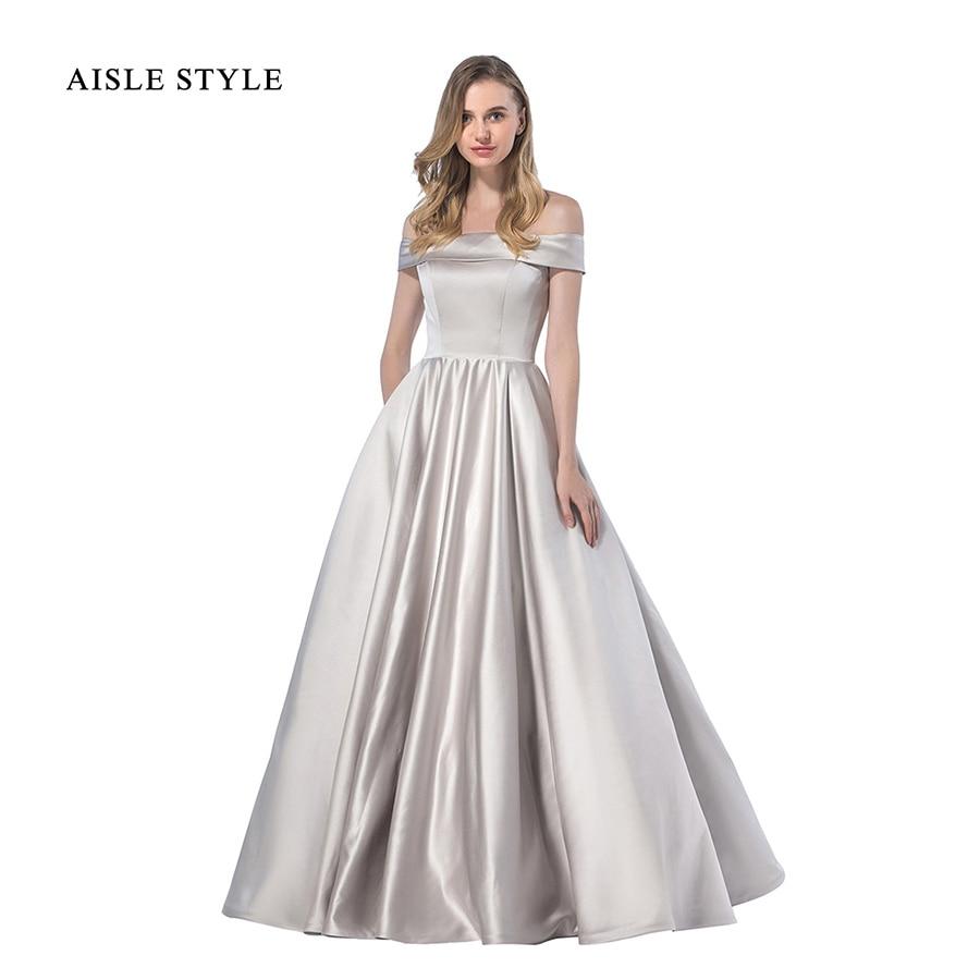 Aisle Style Ball Gown Bridesmaid Dresses Simple Plain Long ...