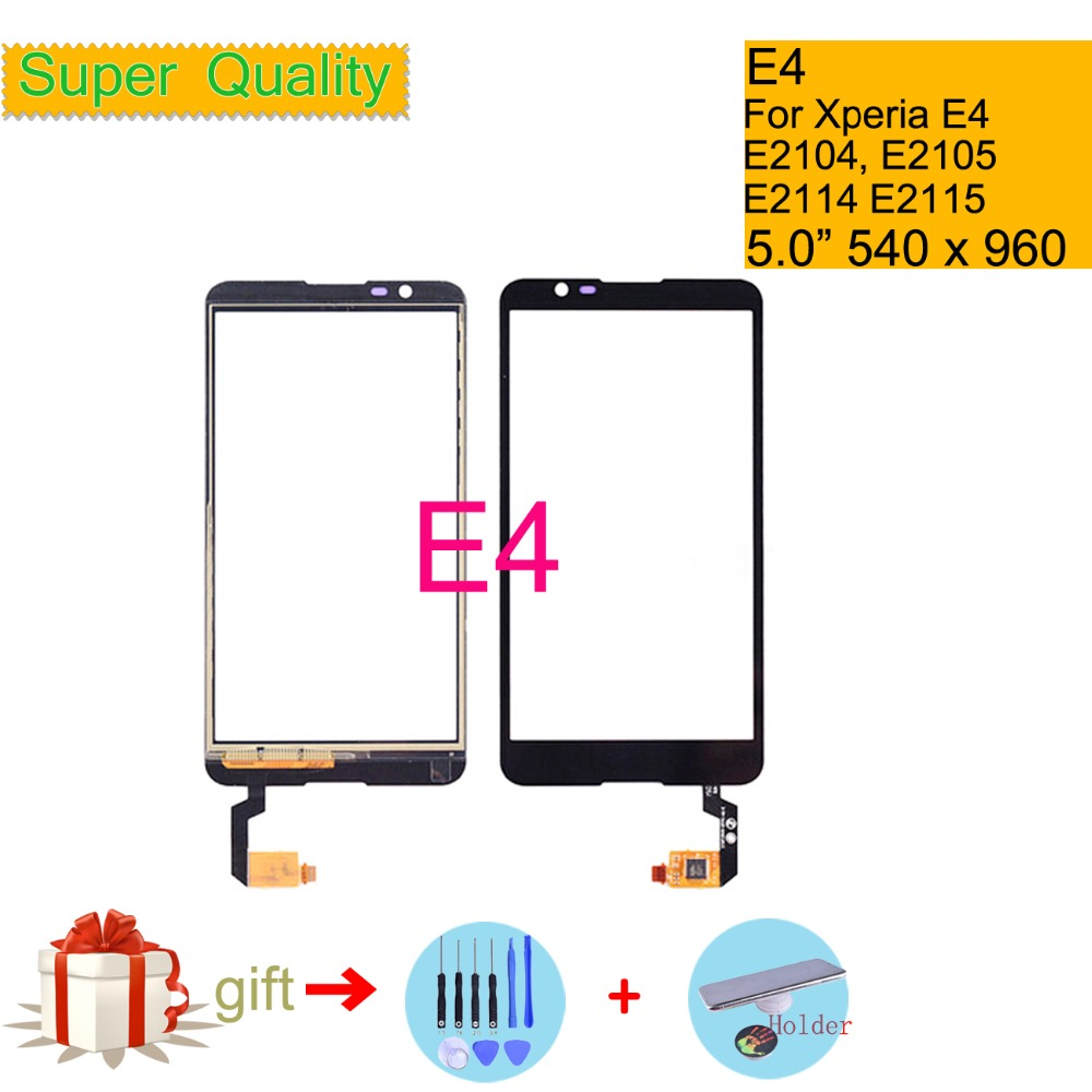 Touchscreen For Sony Xperia E4 E2104 E2105 Dual E2114 E2115 E2124 Touch Screen Digitizer Front Outer Glass Panel Sensor NO LCD