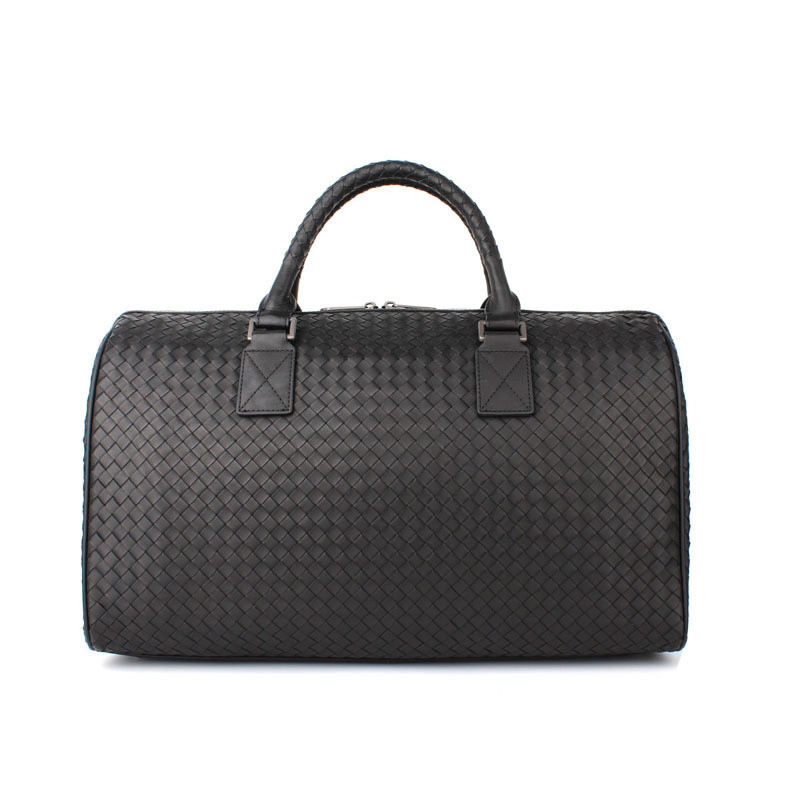 Top Quality Casual Travel Duffle Bag 100% Genuine Leather Men Handbags Black Mens Messenger Bag Tote Large Capacity Travel Bags