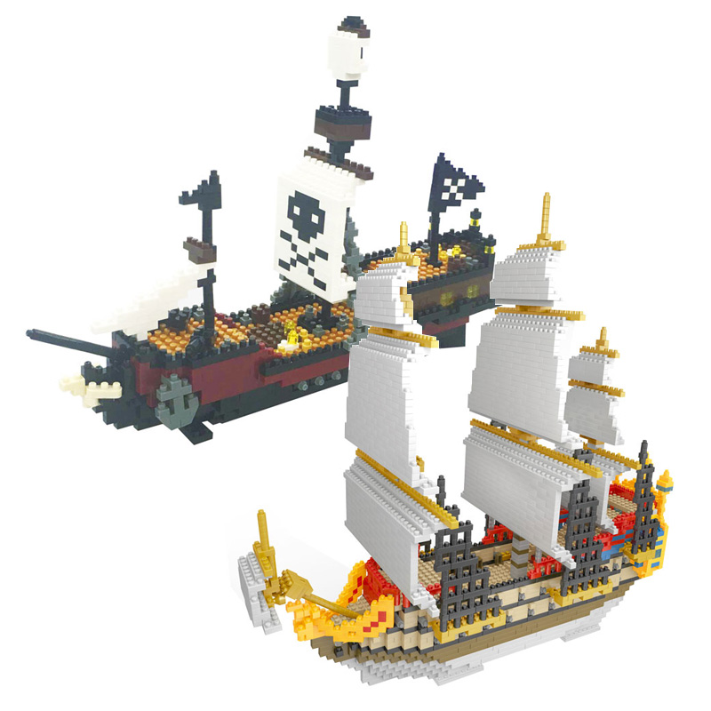Tibbers Building Blocks Toys Sailing pirate flag A pirate ship boat model kits compatible with legoe educational diamond blocks lepin 22001 pirate ship imperial warships model building kits block briks toys gift 1717pcs compatible 10210