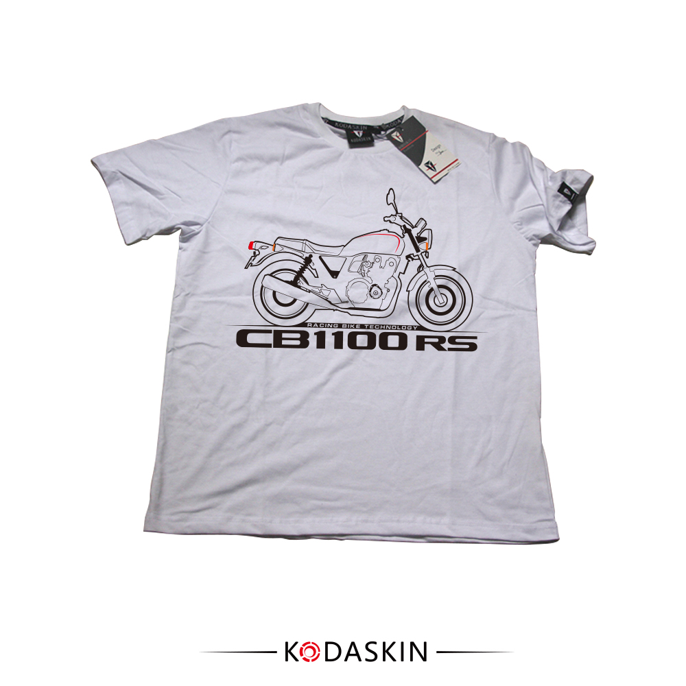 KODASKIN 2018 Male Loose Round Neck half sleeved Wind Rrinting Fashion Summer Free Shipping CB1100RS MOTOROLA T shirt in Shirts Tops from Automobiles Motorcycles