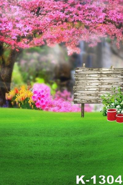 Blossom Tree Garden 5x7ft 150x200cm Vinyl Photo Studio Background