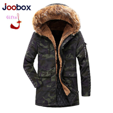 цена на 2018 High Quality Parka Men Winter Long Jacket Men Thick Cotton-Padded Jacket Mens Parka Coat Male Fashion Casual Coats black