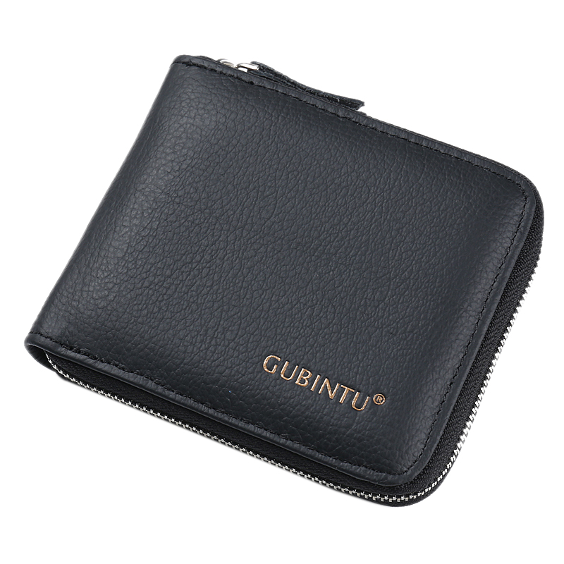 GUBINTU Euro Stylish Zipper Purse Cortex Wallet Men, Mens Wallets Famous Brand Mens Wallet with Coin Pocket