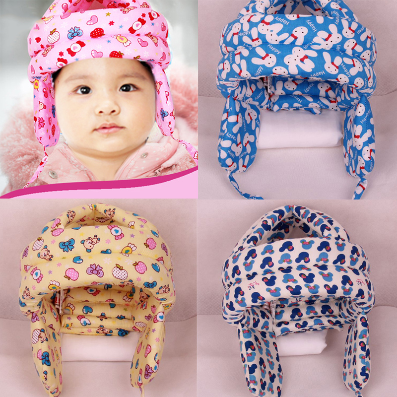 Baby Protector Hat Adjustable Infant Toddler Walking Head Protect Anti-Bumps Cap Safety Helmet Headguard Cotton Hats Protective