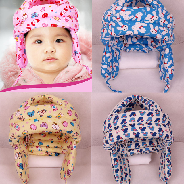 Baby Protector Hat Adjustable Infant Toddler Walking Head Protect  Anti-Bumps Cap Safety Helmet Headguard Cotton Hats Protective 893b3859bd29