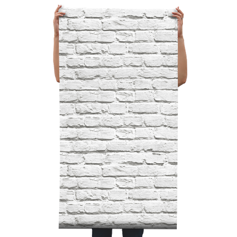 3D Gray White Brick Wall Paper Decor Background Decor Vinyl 3d gray white brick wall paper decor background vinyl