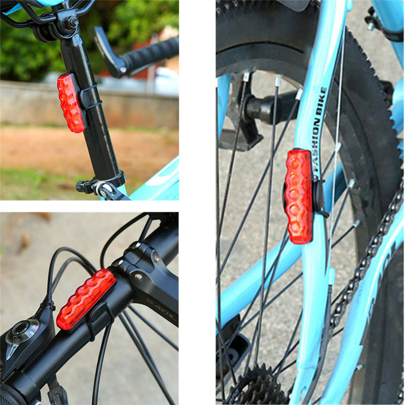 Waterproof COB High Bicycle light USB Rechargeable Bike Front Rear Tail Light Lamp Taillight With Mini USB cable #2g27 (1)