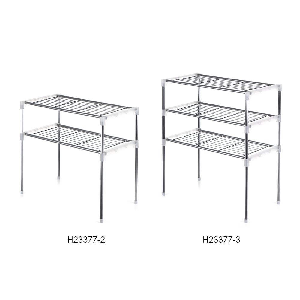 Image 4 - Multi functional Kitchen Storage Shelf Table Rack Microwave Oven Shelving Stainless Steel Adjustable  Kitchen Storage Holders-in Racks & Holders from Home & Garden
