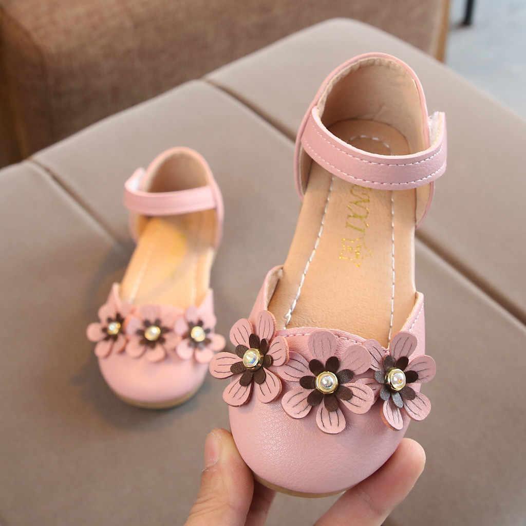 Yürüyor bebek çocuk bebek kız çiçek tek prenses deri ayakkabı sandalet erkek bebek sandalet kızlar sandalet deri kinder